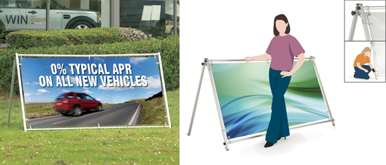 Outdoor Bannerstands